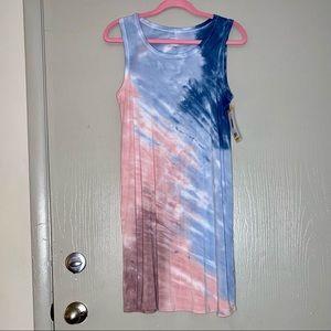 Thread and Supply pastels blue blush tank dress